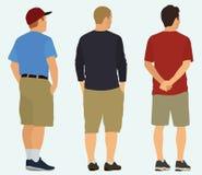 Männer, die etwas angesehen von der Rückseite aufpassen Stockfotos