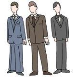 Männer, die Gesellschaftskleidung tragen Stockfotos