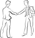 Männer, die Hände rütteln Lizenzfreies Stockbild