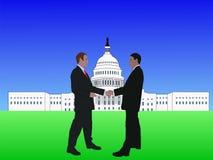 Männer, die im Washington DC sich treffen Lizenzfreie Stockfotos