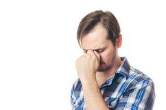 Männer die Kopfschmerzen Lizenzfreies Stockbild