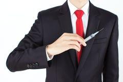 Männer, die Nadel anhalten Lizenzfreies Stockfoto