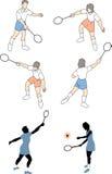 Männer, die Tennis spielen Stockfotos