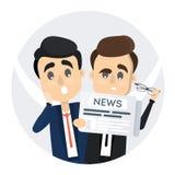 Männer, die Zeitung lesen lizenzfreie abbildung