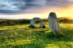 Männer-Ein-Tol in Cornwall Lizenzfreies Stockfoto