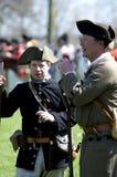 Männer gekleidet als amerikanische Patrioten Stockfotos