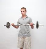 Männer mit Gewichtstab Lizenzfreie Stockbilder