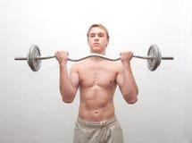 Männer mit Gewichtstab Lizenzfreies Stockfoto