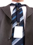 Männer mit seiner Identifikation-Karte Lizenzfreies Stockbild