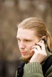 Männer mit Telefon Lizenzfreies Stockbild