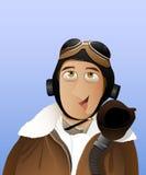 Männer - Pilot lizenzfreie abbildung