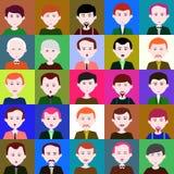 25 Männer Raster 5 5 5 Lizenzfreie Stockbilder