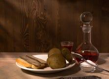 Männer ` s Abendessen Stockfotografie