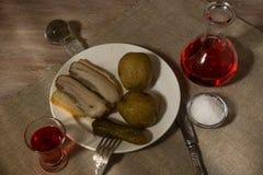 Männer ` s Abendessen Stockfoto