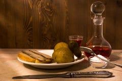 Männer ` s Abendessen Stockbild