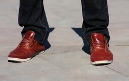 Männer ` s Füße stockbild