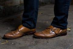 Männer ` s formale Schuhe Stockfotos
