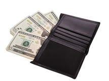 Männer ` s Geldbeutel mit Geld Lizenzfreies Stockfoto