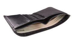 Männer ` s Geldbeutel mit Geld Lizenzfreie Stockfotos
