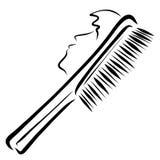 Männer ` s Haarbürste mit dem Gesicht eines jungen Mannes, kreativ vektor abbildung