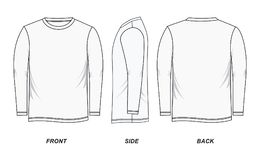 Männer ` s langärmliges Bild Hemdes Stockfotografie