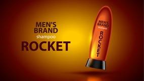 Männer ` s Shampookonzept Stockbilder