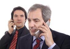 Männer am Telefon lizenzfreie stockfotos