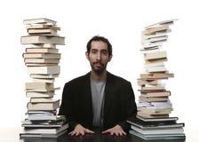Männer und Bücher Stockbild