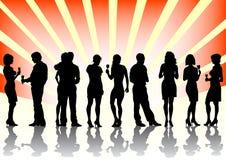 Männer und Frauen an der Party Lizenzfreie Stockfotografie