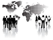 Männer und Frauenteams Lizenzfreies Stockfoto