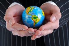 Männer und globales Lizenzfreies Stockbild