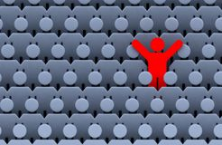 Männer unter Masse der Leute Lizenzfreie Stockfotografie