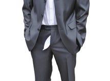 Männer vergaßen, seine Hosen oben Reißverschluss zuzumachen Lizenzfreie Stockfotos