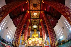 Männer Wat Na-Phra, Ayuthaya, Thailand Stockbilder