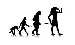 Människa Evolution_12 Arkivfoto