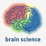 MänniskaBrain Science Themed Design Vector diagram stock illustrationer