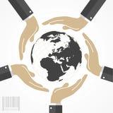Människan räcker att rymma världen Arkivfoton