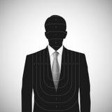 Människasilhouetten uppsätta som mål annonymous person Fotografering för Bildbyråer