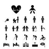Människolivsymbol Arkivfoto