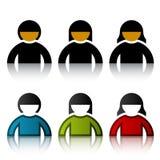 Männlich-weibliche Benutzersymbole Stockbilder
