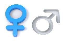 Männlich-weibliche Geschlechtssymbole Lizenzfreie Stockbilder