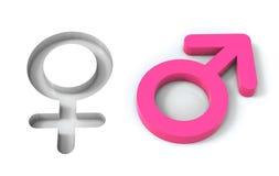 Männlich-weibliche Geschlechtssymbole Stockbild