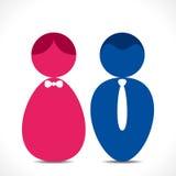 Männlich-weibliche Ikone Stockfoto