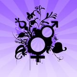 Männlich-weibliche Symbole Lizenzfreies Stockbild