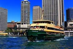 Männliche Fähre, die Kreis-Quay, Sydney verlässt Stockbild