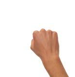 Männliche Hand, die zählt - abfahrend von seiner Faust lizenzfreie stockfotografie