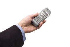 Männliche Hand mit Telefon Lizenzfreie Stockbilder