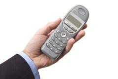 Männliche Hand mit Telefon Lizenzfreies Stockbild