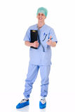 Männliche Krankenschwester, admin-Arbeit Stockfotos