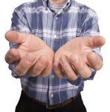 Männliche leere Hände lizenzfreie stockfotos